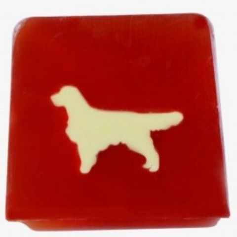 Dog - Raspeberry Fragrance Handmade Soap min 100g
